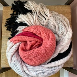 Kate Spade Brushed Color Block Blanket Scarf